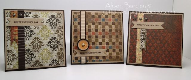 Gothdove Designs - Alison Barclay Stampin' Up! ® Australia #fathersday #cards #wellworndsp