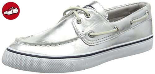Sperry Top-Sider Damen Bahama Metallic Sneakers, Silber (Silver), 40.5 EU (*Partner-Link)
