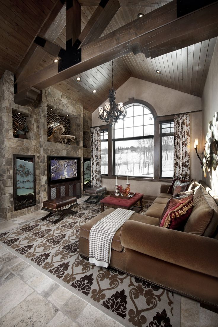 401 best images about log cabin design ideas on pinterest for Interior design living room rustic