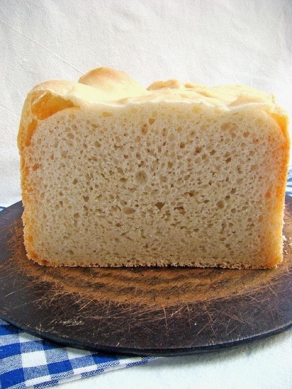 Хлеб без дрожжей, выпеченный в хлебопечке. Рецепт