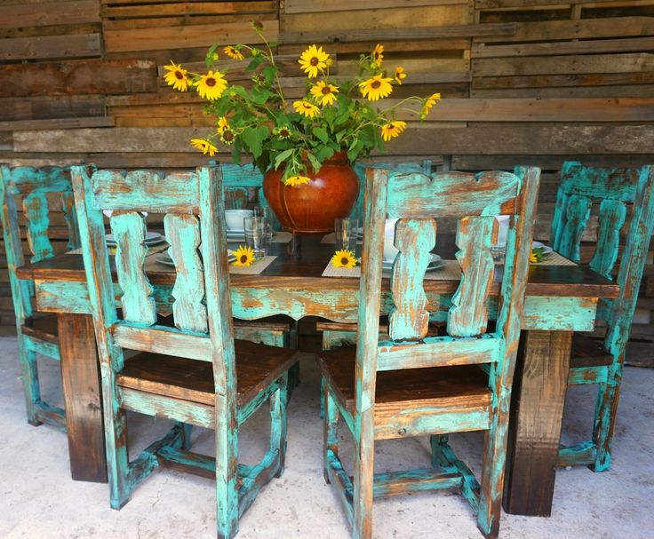 Teo Traditional Dining Table for 6  Sofia's Rustic Furniture