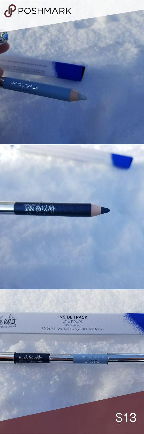 2 The Estee edit INSIDE TRACK EYE KAJAL. New. Authentic.   2 The Estee edit by Estee lauder INSIDE TRACK EYE KAJAL. NAVY/baby blue.  NOTE: I have 2 in STOCK. Estee Lauder Makeup Eyeliner