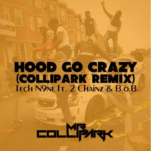 "Mr. Collipark (@RealColliPark) Remixes Tech N9ne, (@TechN9ne) 2 Chainz (@2Chainz) & B.o.B's (@bobatl2) - ""Hood Go Crazy"" [Music]- http://getmybuzzup.com/wp-content/uploads/2015/07/mr-collipark.jpg- http://getmybuzzup.com/mr-collipark-remixes-tech-n9ne/- After breaking some major acts in the past two decades, everyone from Soulja Boy (with ""Crank That"") to Mike Jones to Paul Wal and many more, Mr. ColliPark is returning to his roots as a DJ/Proudcer. He is currentl"
