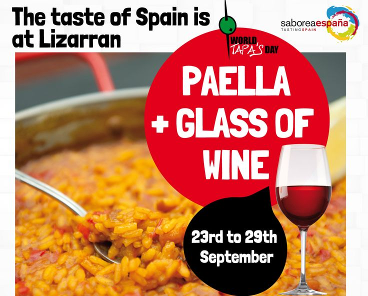 WORLD TAPAS DAY 23rd to 29th September.
