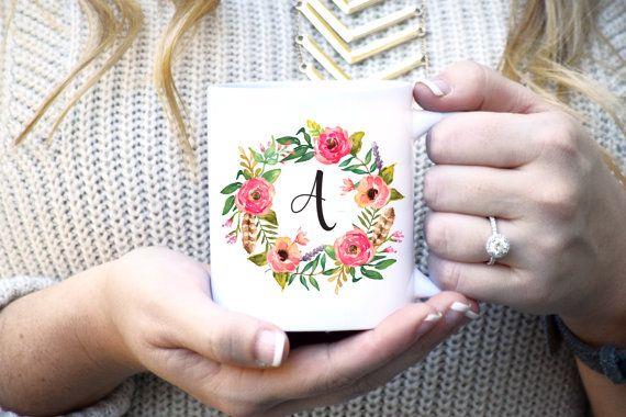 Tazza personalizzata personalizzata regalo tazza di RoseGoldRebel