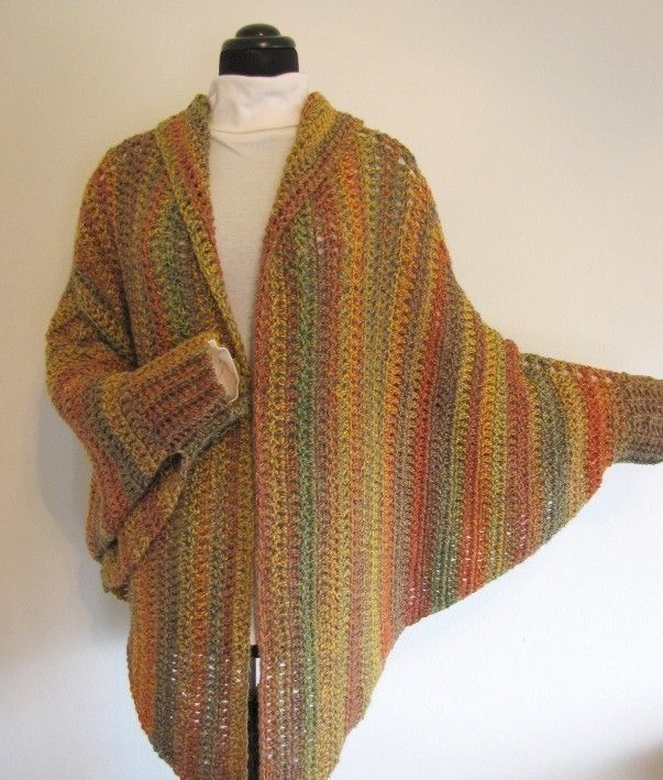 Quick and Easy Cuffed Cape Crochet PDF Pattern by BellaCrochet