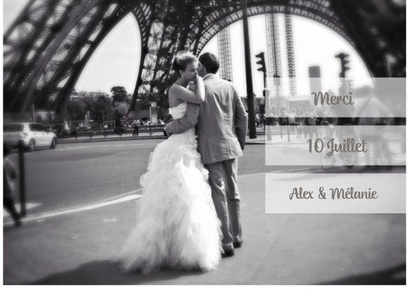 carte de remerciement mariage photobox - Formule Remerciement Mariage