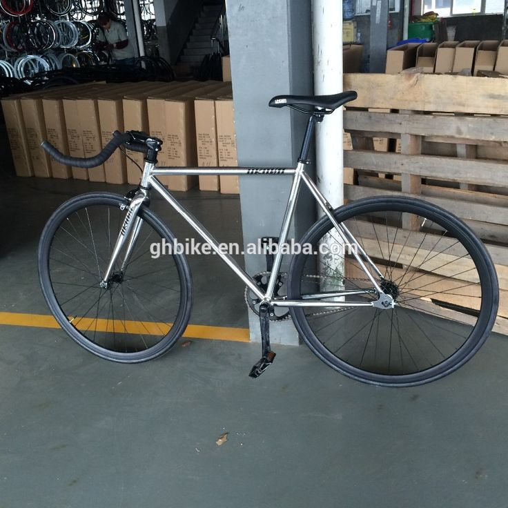 Chrome stell cadre fixe equipement vélo fixie vélos engrenage 700C à vitesse unique engins fixes vélo de piste