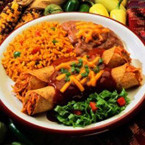 """Gloria Pitzer, """"The Recipe Detective®"""" Chi Chi's-style Cancun Enchiladas recipe"""