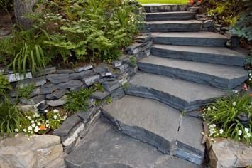 45 best images about house ideas on pinterest wall for Exterior stone stairs design