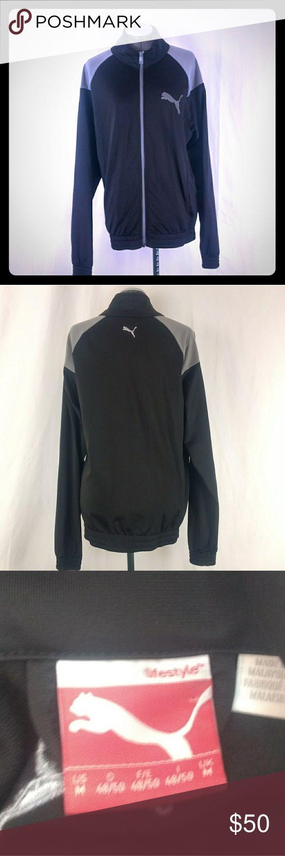 Puma Jacket Full Zip Black Medium Puma Jacket Full Zip Black   Size Medium Puma Jackets & Coats Performance Jackets