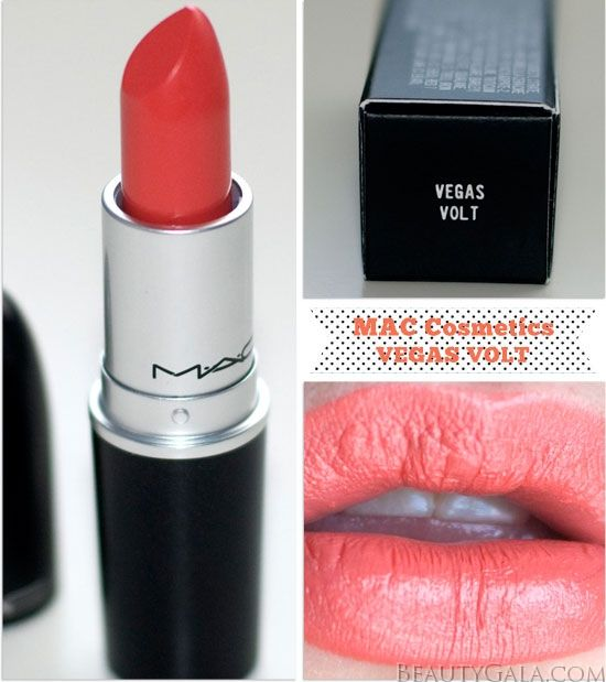 "The Crowning Coral: MAC Cosmetics Lipstick, ""Vegas Volt,"" Photographs & Swatches 