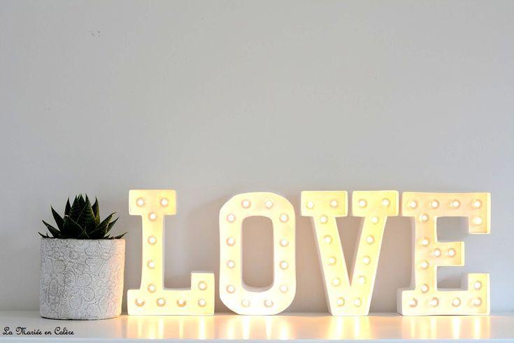 {Décoration} Les lettres lumineuses - La Mariée en Colère Blog Mariage, grossesse, voyage de noces