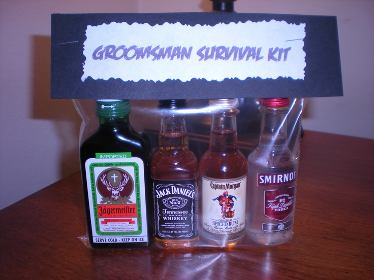 My DIY Groomsman Survival Kits :) Cute way to ask guys to be in your wedding.
