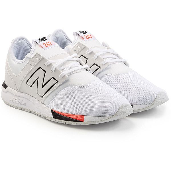 New Balance MRL247 Sport D Sneakers ($105) ❤ liked on Polyvore featuring men's fashion, men's shoes, men's sneakers, white, mens sports shoes, new balance mens shoes, mens sport shoes, mens white shoes and mens white sneakers
