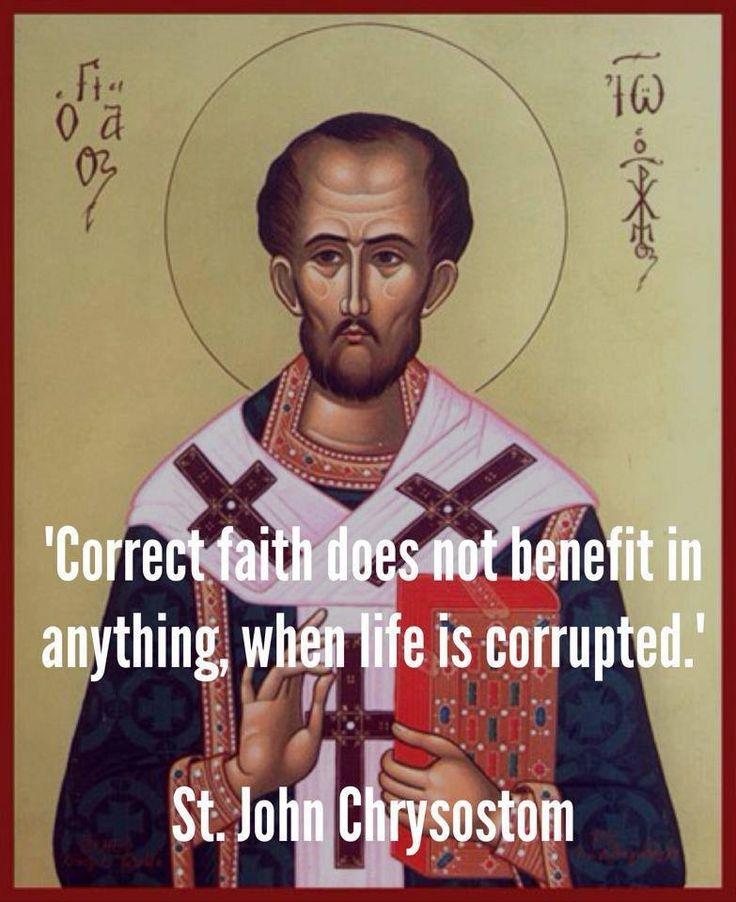 St John Chrysostom #quote #orthodox #Christian