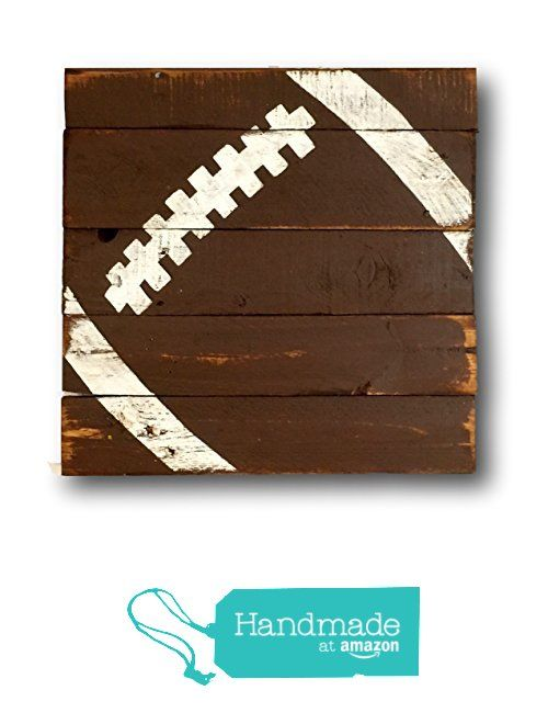 Football Sign / Vintage Wood Sports Sign / Boys Bedroom Decor / Vintage Football Decor from Pallets and Paint http://www.amazon.com/dp/B01B8JTLFG/ref=hnd_sw_r_pi_dp_YQBaxb1PFGAJ8 #handmadeatamazon