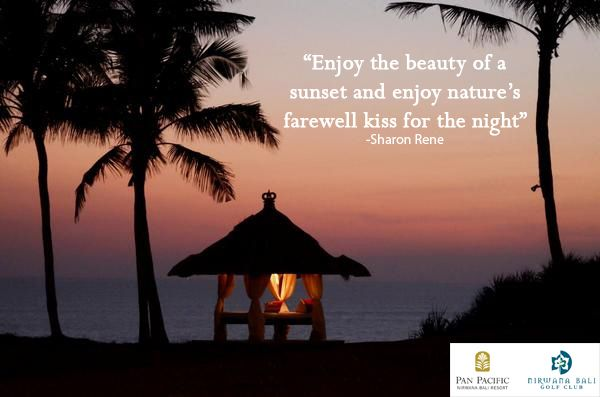 Capture the amazing sight of the nature daily acts from the perfect spot at #PanPacificBali #Bali #Resort #Sunset