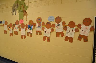 A Place Called Kindergarten: giant gingerbread boys and girls