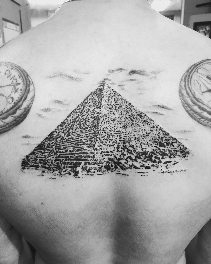 The Great Pyramid Tattoo Design on Back