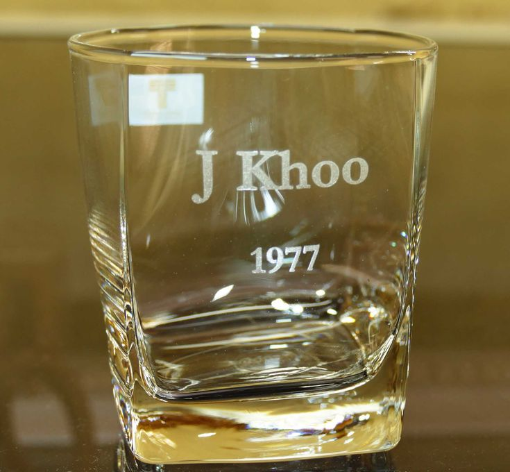 Custom engraved whisky glasses. Enter details you wish engraved. A layout is prepared and emailed from your order details