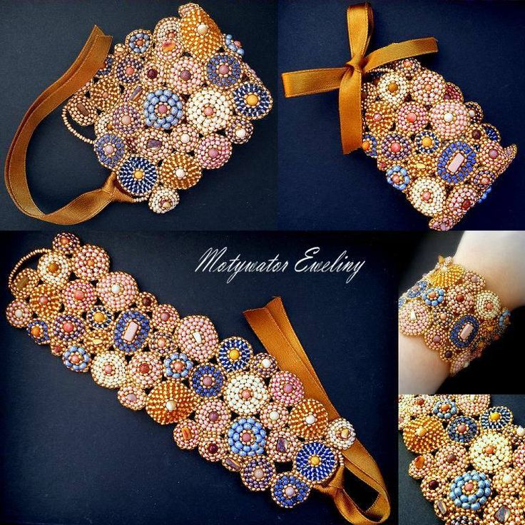 Brick stitch/embroidery bead bracelet by Eweliny (Evelina) Motywator, Lublin, Poland.  See lots more of hers in lovely palettes at http://artillo.pl/produkt/pastelowelove,99116.html .