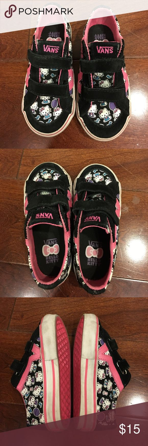 Kids Hello Kitty Vans shoes Kid's Hello Kitty Vans shoes, worn only a few times, good condition Vans Shoes