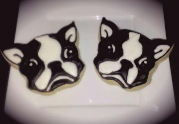 Boston Terrier Cookie Favors (One Dozen)