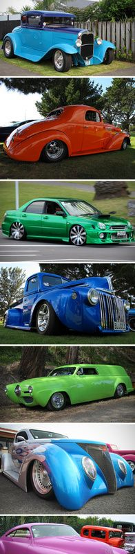 colorful cool cars