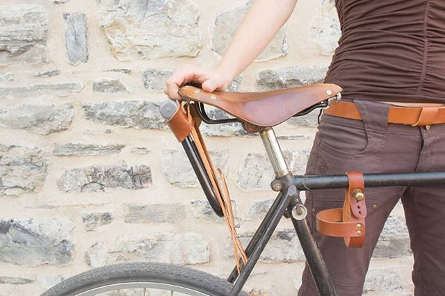 There S A Better Way To Carry Your Ulock Than In Your Pants Hang Your Lock In The Ulockholster Check Out Leather Bicycle Cycling Fashion Bicycle Clothing
