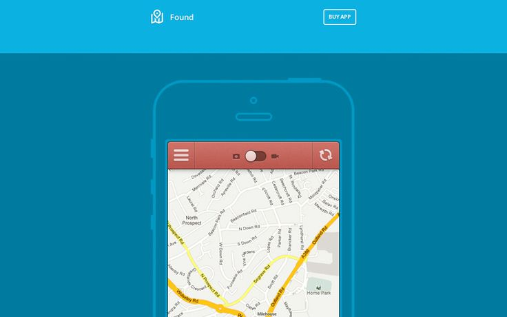 Found : HTML Template for Showcase Mobile App
