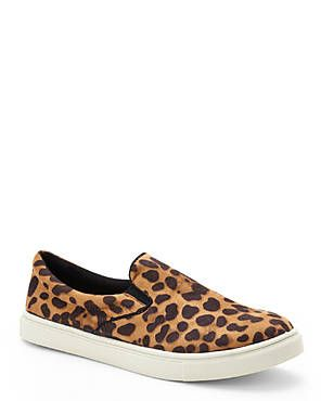 These leopard print slip-on sneakers are