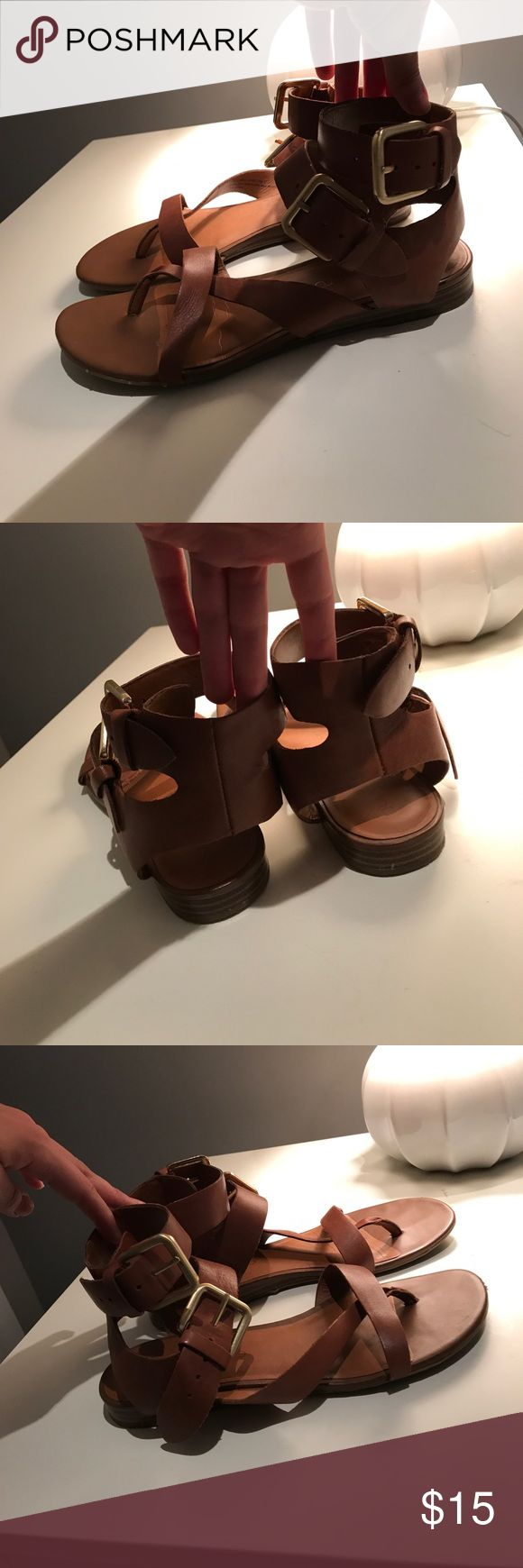 Franco sarto sandals Cute brown sandals, in great condition! Franco Sarto Shoes Sandals