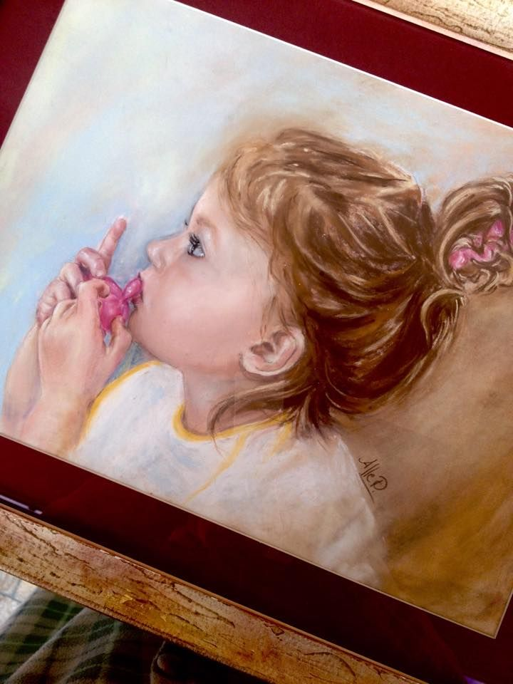 Ritratto di Emanuela, pastello soffice