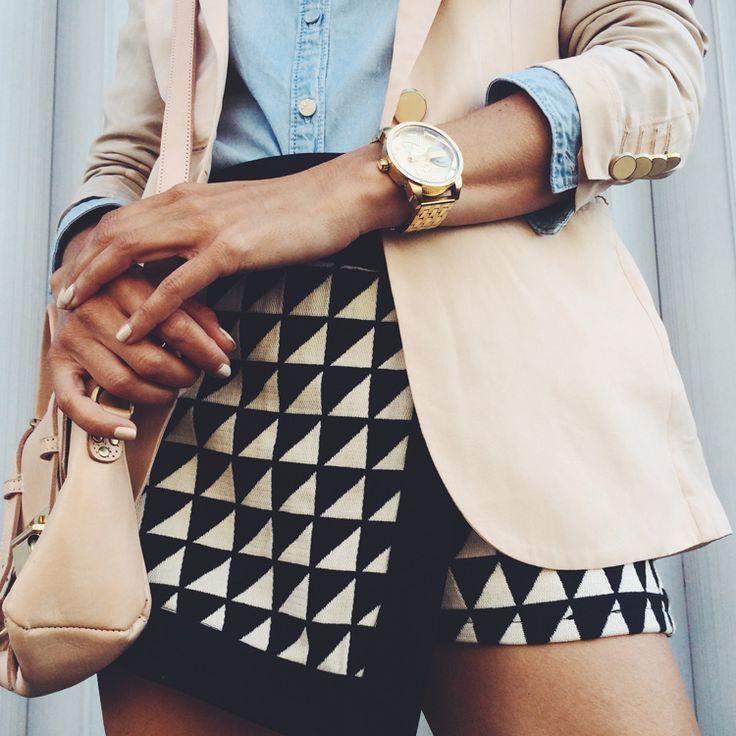 blush, chambray, geometric