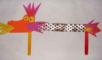 Preschool Crafts for Kids*: Chinese Dragon Puppet Craft