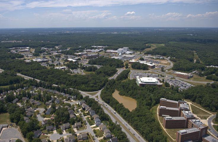 https://flic.kr/p/zwPPB5   NASA's Goddard Space Flight Center   Aerial view of NASA's Goddard Space Flight Center in Greenbelt, Maryland, in 2010.  Credits: NASA Goddard/Bill Hrybyk