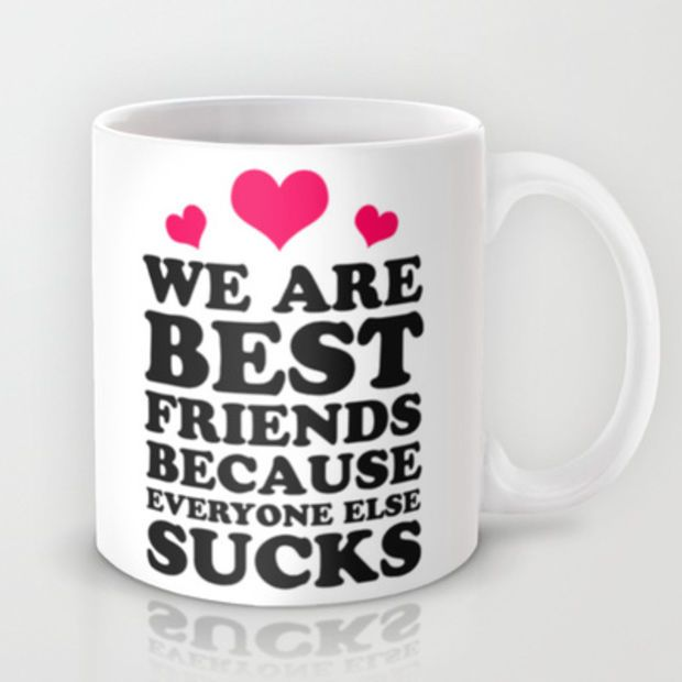 Best Friends Mug By Lookhuman Caffeinejunkie Best