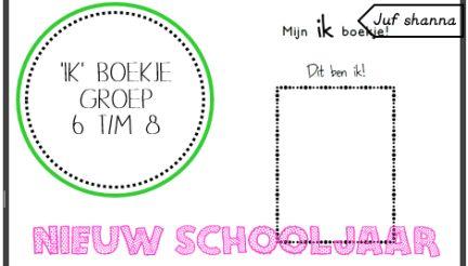 Nieuw schooljaar: ik-boekje - groep 6 t/m 8