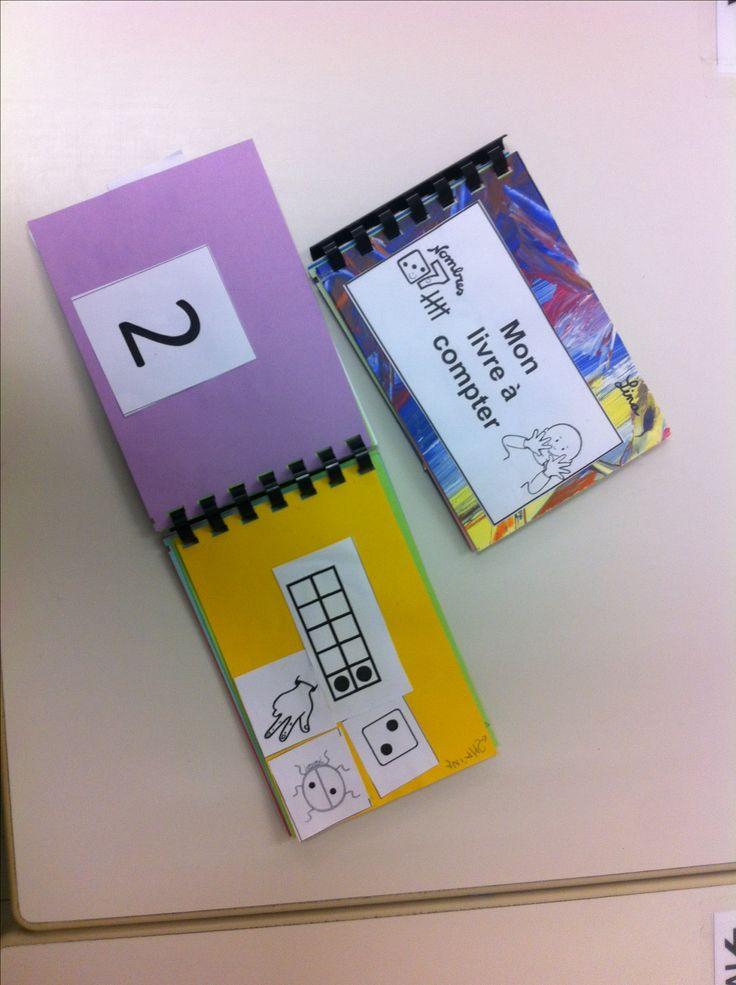 Petit livre outil à compter( à transformer en atelier autonome .'.juste le chiffre et les enfants complètent les pages