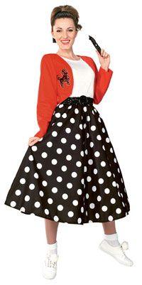 Polka Dot Rocker Fifties Costume - 1950's Costumes
