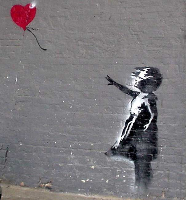 Banksy girl with balloon.. this should also be tattooed on me