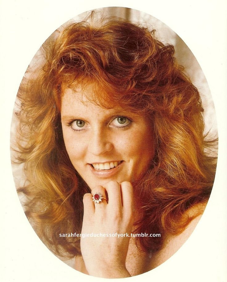 Sarah Ferguson. This photo was taken by Prince Andrew and shows the details of her ruby engagement ring.