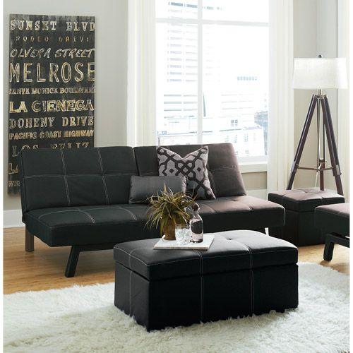 Delaney Futon Sofa Bed 3 Piece Living Room Set Multiple