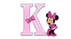 Minnie Mouse Pink Alphabet   Jewels Art Creation
