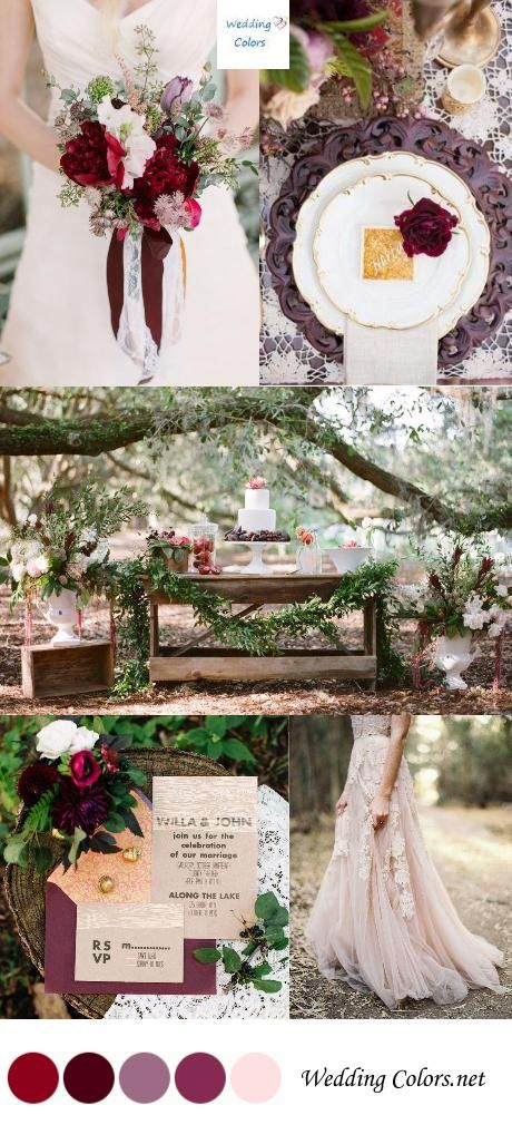 Shades of Burgundy, Amethyst, and Blush Wedding Palette