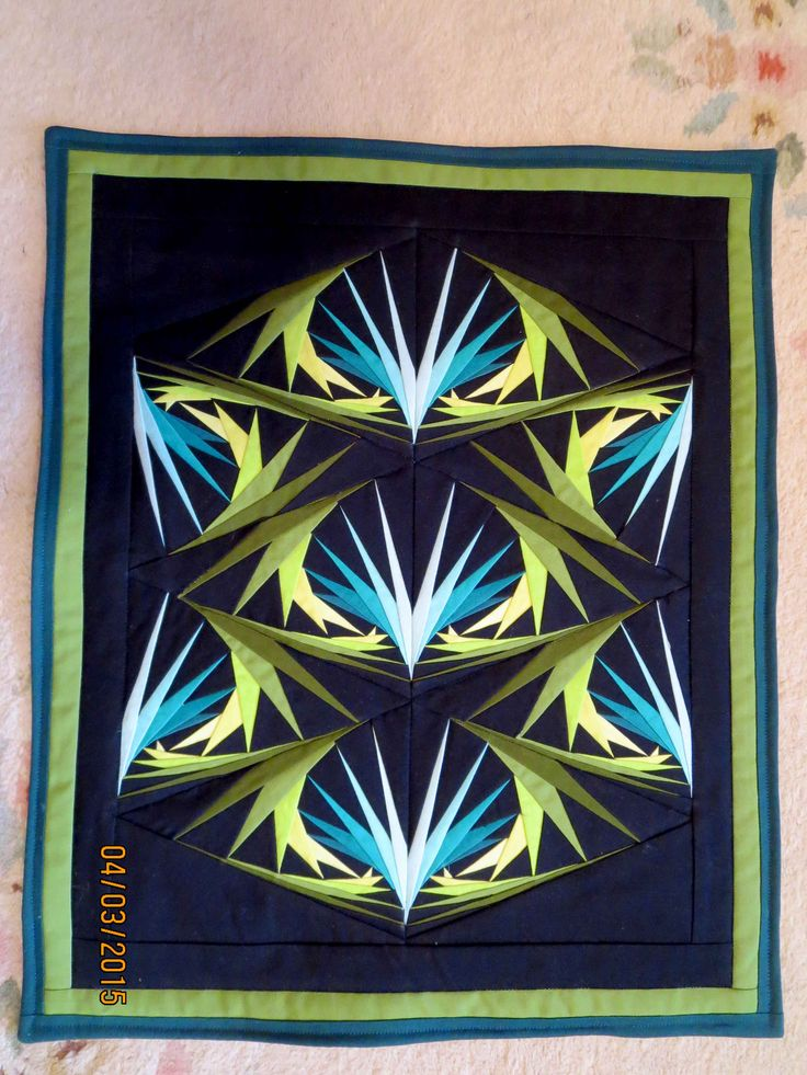 Bird of Paradise- from a pattern by George Siciliano- 15 X 18 inches