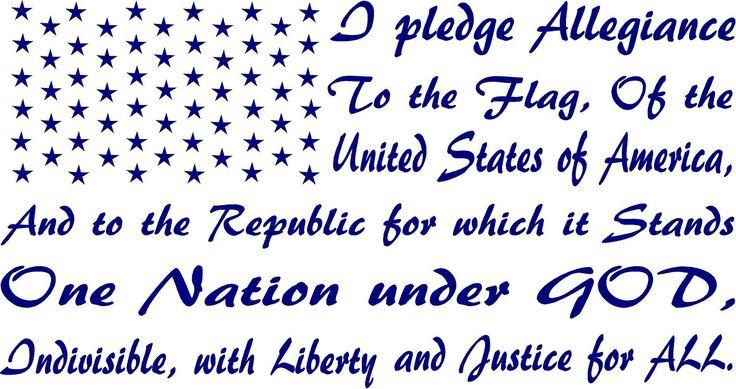 Classroom Pledge Ideas ~ Ideas about pledge of allegiance on pinterest
