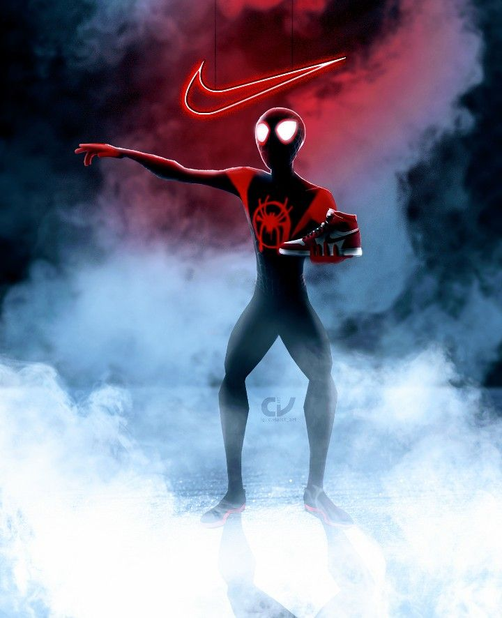 Ultimate Spider Man Nike Into The Spider Verse Miles Morales Spiderman Ultimate Spiderman Spiderman