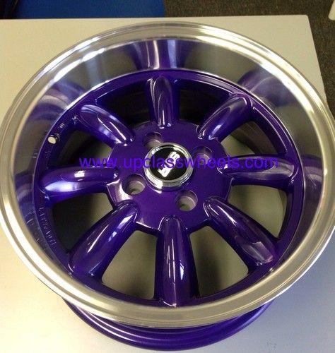 15 4x100 Wheels Purple Rims 4 Lug Low Offset 10 Fit Crux